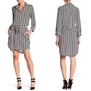 NWT $148 Laundry by Shelli Segal Print Shirt Dress